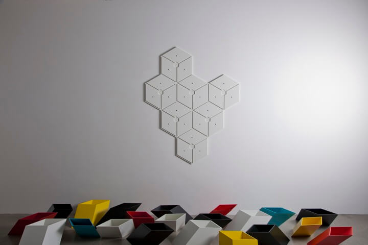 storage puzzle Optical illusion design for Imeuble storage by By  Corporation