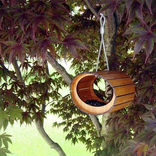 Bamboo birdhouse 10 Birdhouses to Decorate Your Outdoor Space this Spring
