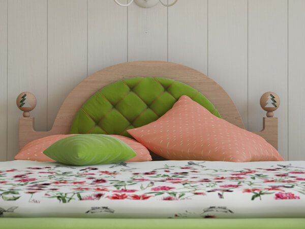 Bed design for chidren bedroom Creative Green Bedroom with a Forest Inspired Theme