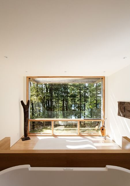 Bedroom with forest view Sustainable Home Surrounded by a Privileged Natural Setting
