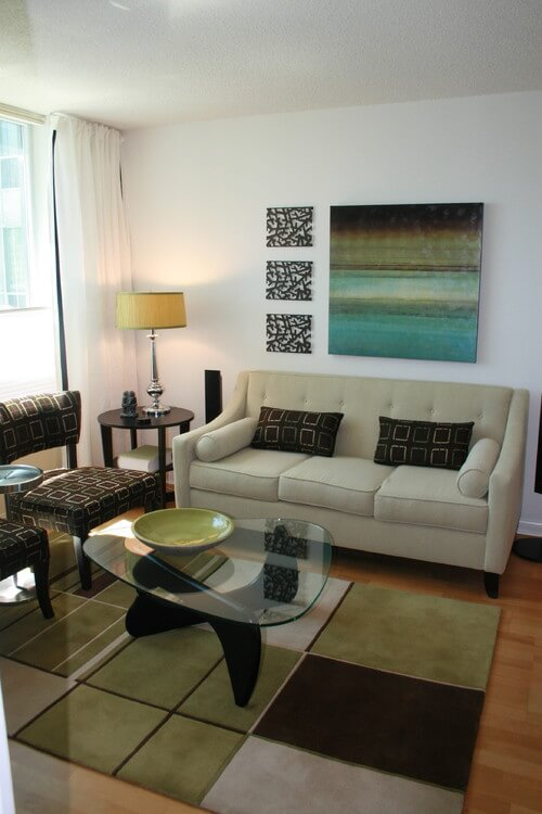 Contemporary living room with abstract art How to Make Your Home More Attractive and Modern with Abstract Art