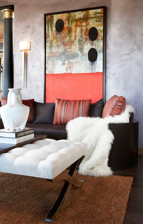 Eclectic living room with abstract art How to Make Your Home More Attractive and Modern with Abstract Art