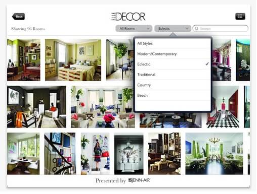 Elle decor Lookbook for iPad Home Decor Magazines to Read on Your Tablet