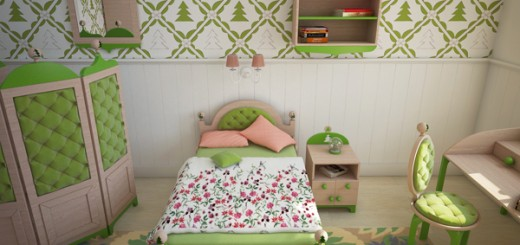 Forest-themed-kids-bedroom