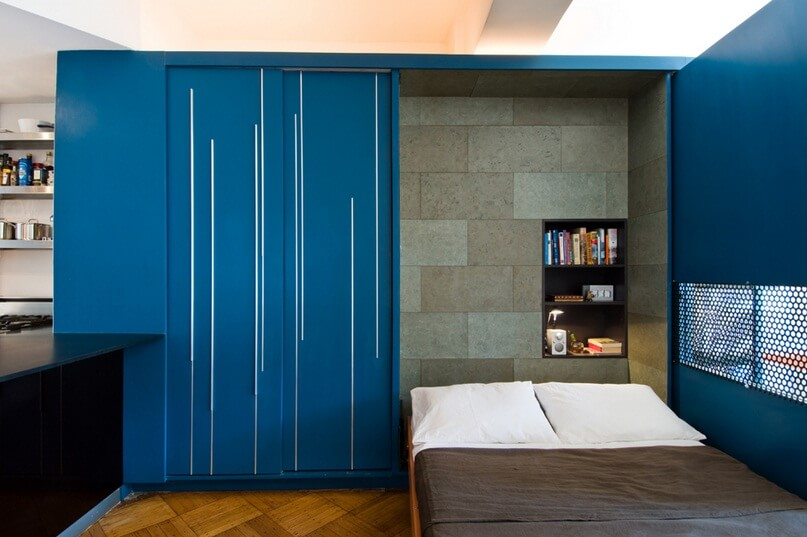 Guest Murphy bed Small Apartment Design Exhibiting Creative Space Efficient Ideas