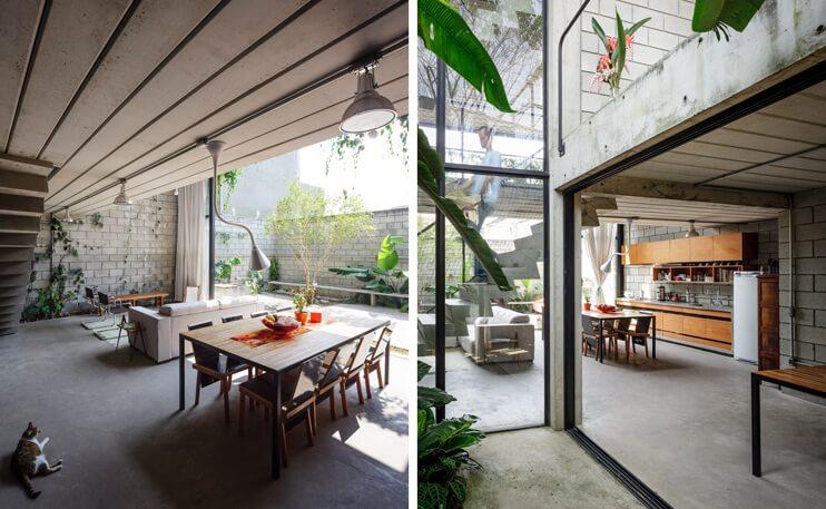Modern Industrial Maracan House in Sao Paulo