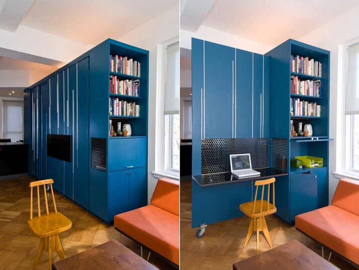 Small Apartment Design Exhibiting Creative Space-Efficient Ideas ...