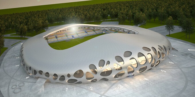 Stadium-metal-structure