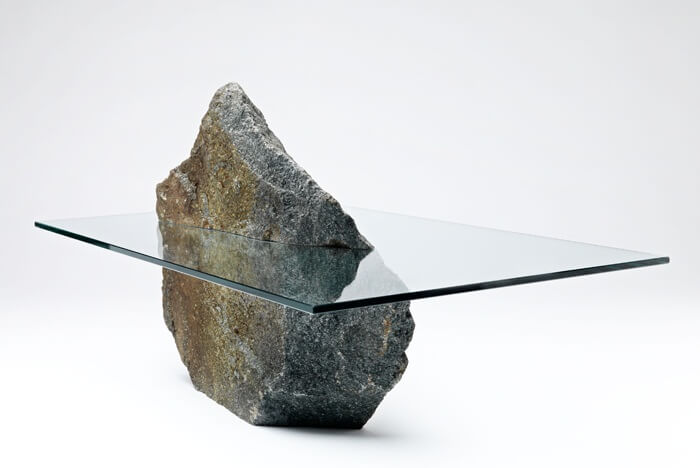 Stone-and-glass-table