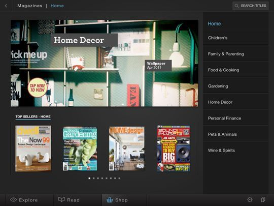 Zinio newsstand Home Decor Magazines to Read on Your Tablet