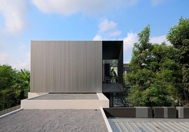 LShaped Modern Residence Integrating Traditional Thai House