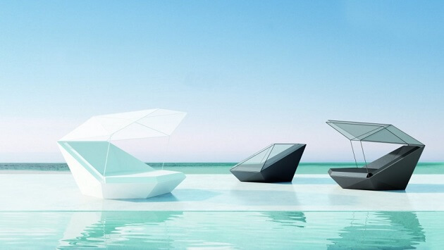 Beautiful daybed shape New Vondom Furniture for Outdoor  Versatile Faz Daybed by Ramon Esteve