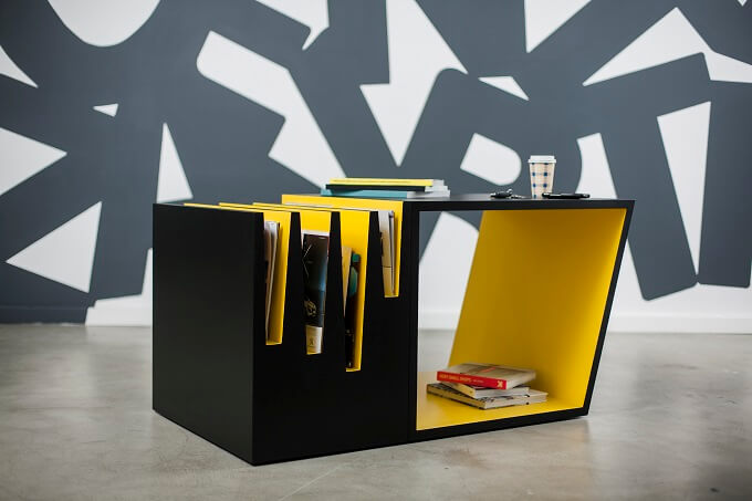 Blac And Yellow Table
