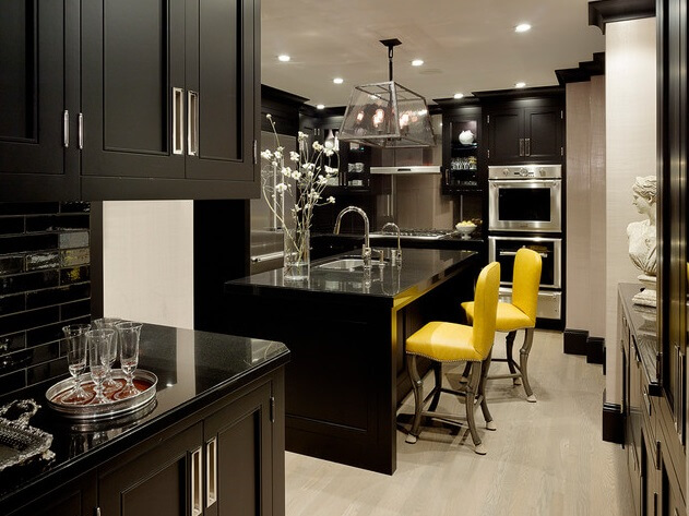 Black kitchen cabinets Use Paint to Have New Kitchen Cabinets