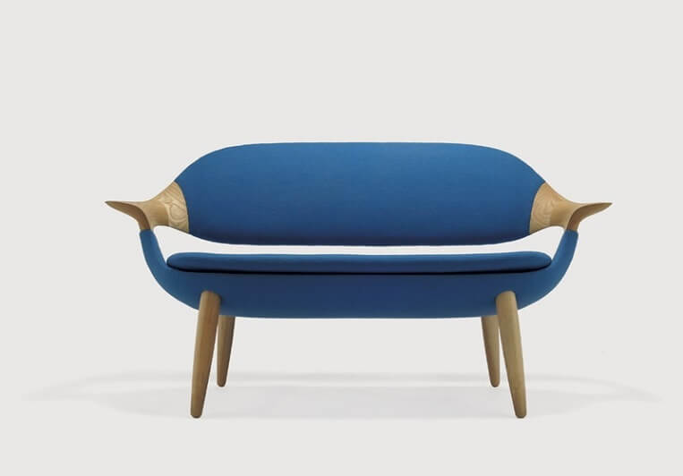 Blue sofa design Furniture with Unique Silhouette  IS Sofa by Inoda and Sveje