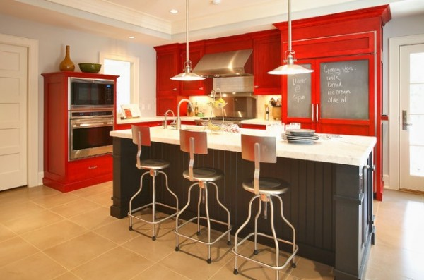 Bright-red-cabinetry