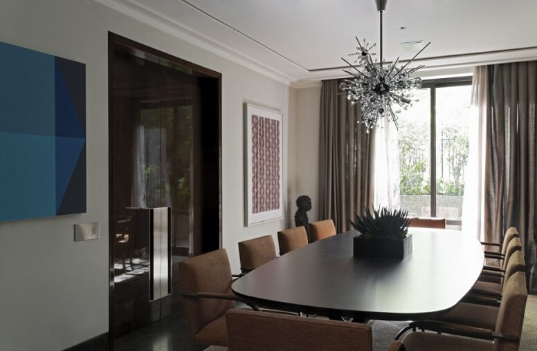 Contemporary dining room Contemporary Apartment in Brazil Revealing Elegant Design Details