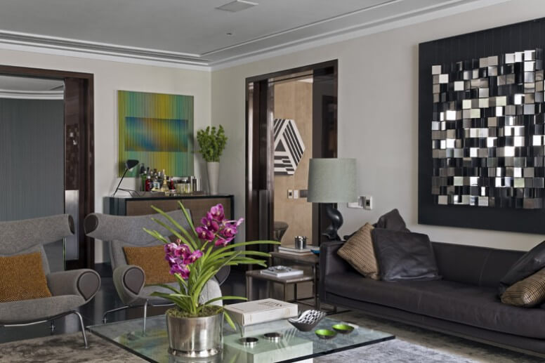 Contemporary living room Contemporary Apartment in Brazil Revealing Elegant Design Details