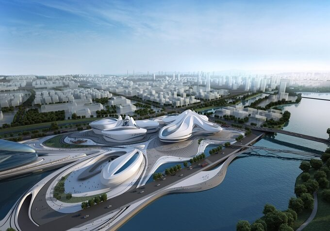 Cultural project in China Zaha Hadid Architects New Arts and Culture Centre Project in China