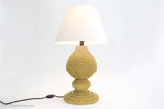 Devoe tan lamp Original LEGO Artwork  Playful LEGO Lamps from Sean Kenney