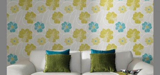 Eco-friendly- -floral-wallpaper