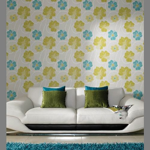 eco friendly floral wallpaper