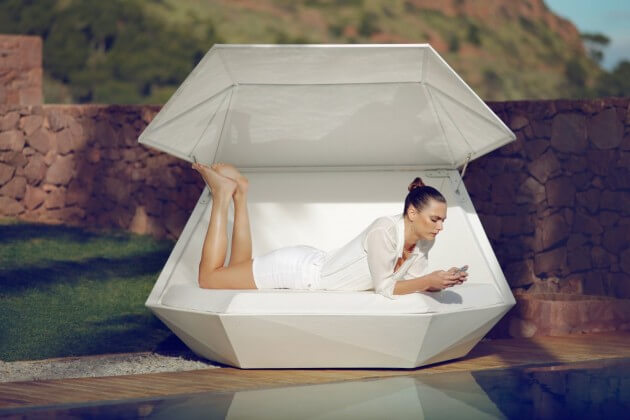 Elegant relaxation platform New Vondom Furniture for Outdoor  Versatile Faz Daybed by Ramon Esteve
