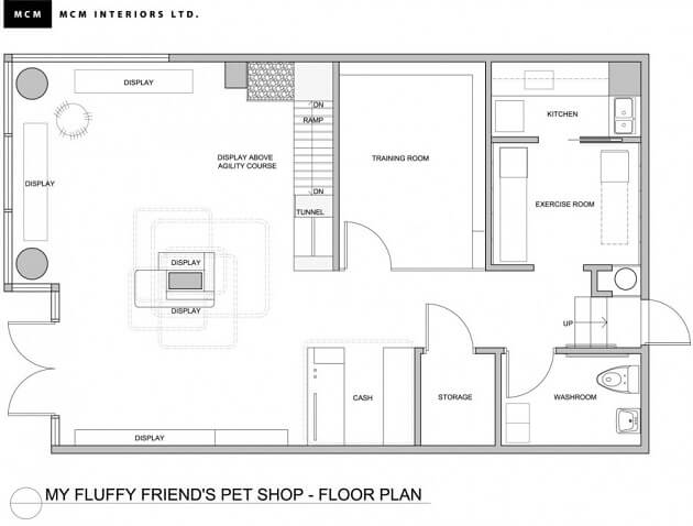 Fresh and playful pet shop design in vancouver interior for Shop design plans