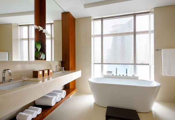 Guest suite bathroom Stunning JW Marriott Marquis Hotel Dubai  The Worlds Tallest Hotel