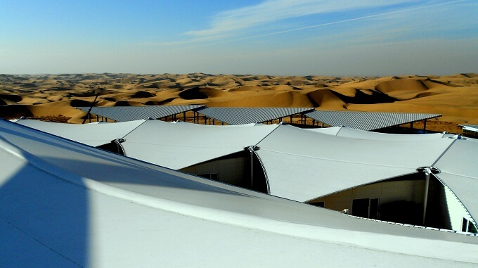 Hotel architecture by PLaT Architects 01 Sustainable Architecture in the Middle of Gobi Desert  The Lotus Hotel