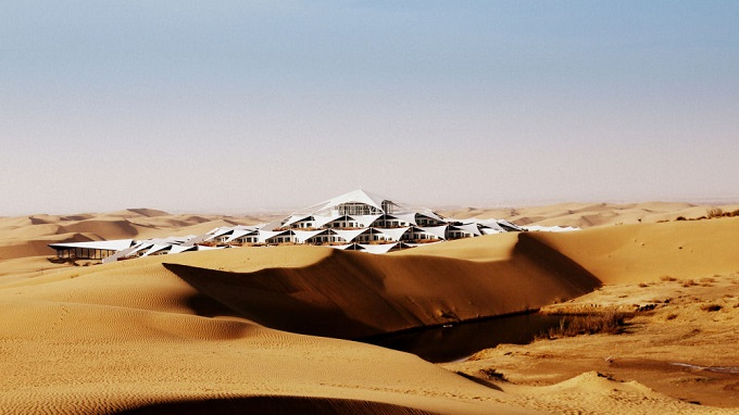 Hotel architecture by PLaT Architects 03 Sustainable Architecture in the Middle of Gobi Desert  The Lotus Hotel