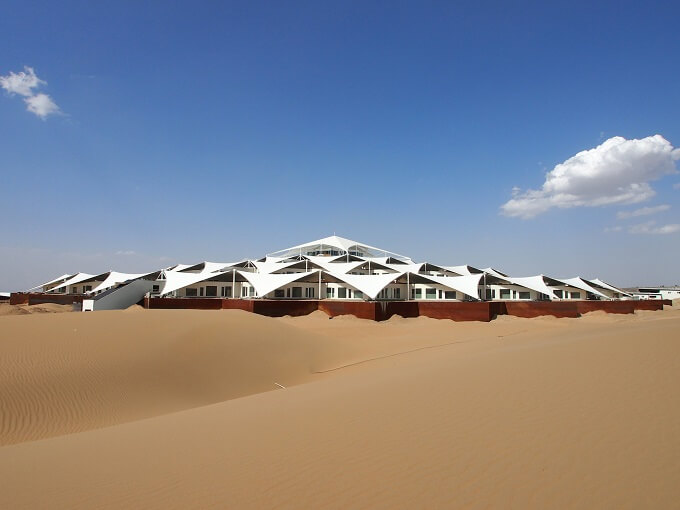 Hotel architecture by PLaT Architects 04 Sustainable Architecture in the Middle of Gobi Desert  The Lotus Hotel