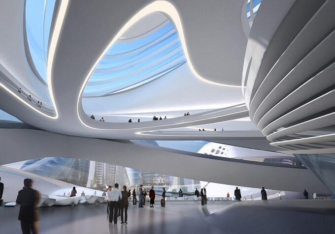 Inside Art Centre 01 Zaha Hadid Architects New Arts and Culture Centre Project in China