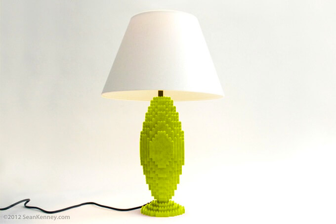 Lafayette lime lamp Original LEGO Artwork  Playful LEGO Lamps from Sean Kenney
