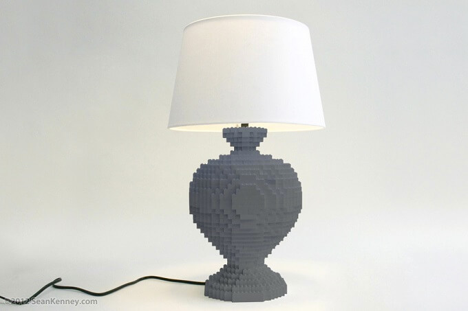 Mercer darkgray lamp Original LEGO Artwork  Playful LEGO Lamps from Sean Kenney