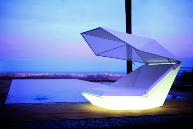 Outdoor furniture with LED New Vondom Furniture for Outdoor  Versatile Faz Daybed by Ramon Esteve
