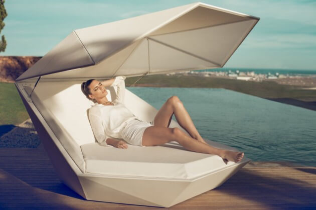 Relaxation lounge New Vondom Furniture for Outdoor  Versatile Faz Daybed by Ramon Esteve