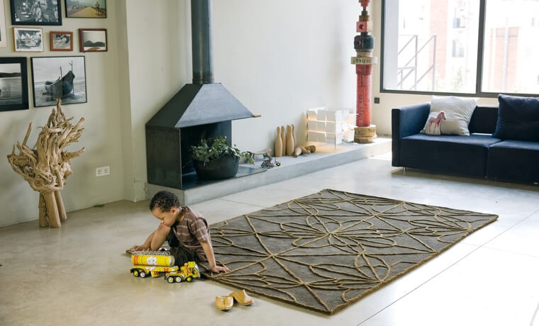 Rug with exotic motifs African House Rugs Collection by Nanimarquina