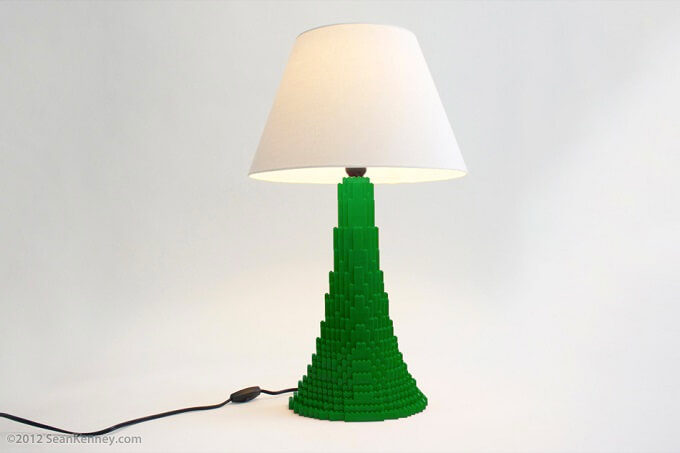Stanton green lamp Original LEGO Artwork  Playful LEGO Lamps from Sean Kenney