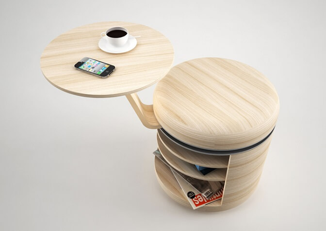Tandem stool by Geoffrey Graven 6 Modern and Creative Stool Designs