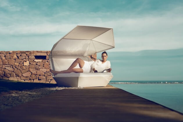 White outdoor furniture New Vondom Furniture for Outdoor  Versatile Faz Daybed by Ramon Esteve
