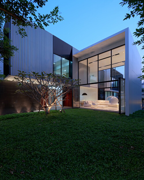 Home Design Thailand: L-Shaped Modern Residence Integrating Traditional Thai