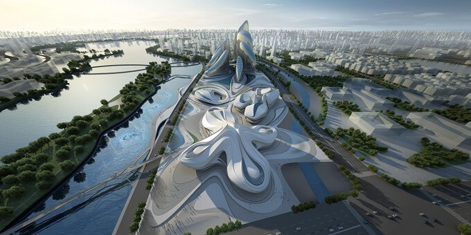 Zaha Hadid Architects design Zaha Hadid Architects New Arts and Culture Centre Project in China