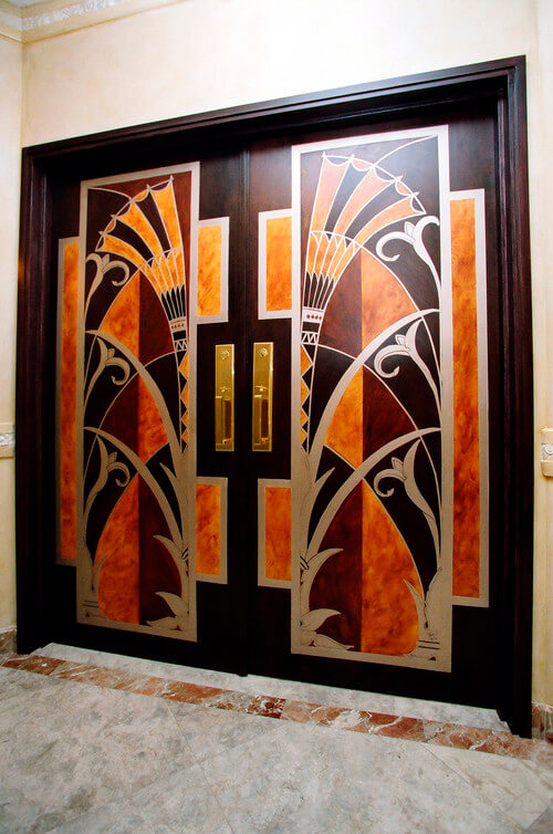 Art Deco Hand Painted Door
