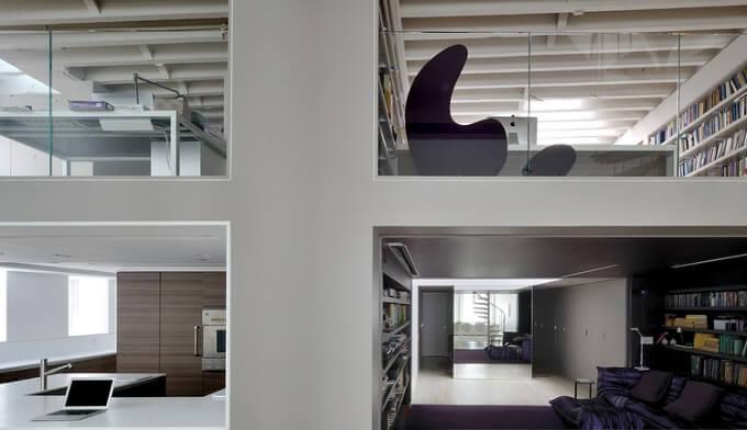 modern and spacious duplex loft in soho by david hotson