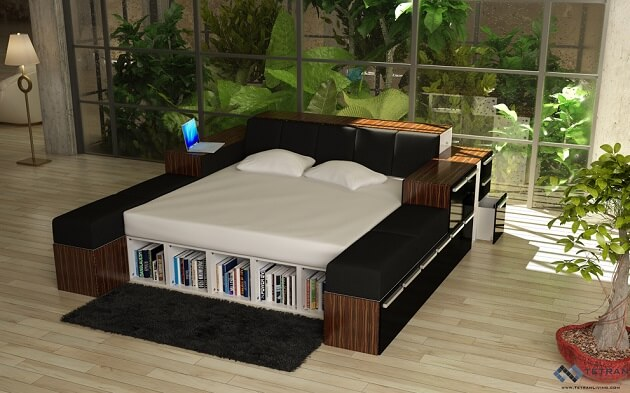 Limitless designs with the latest modular furniture for Modular bedroom furniture systems