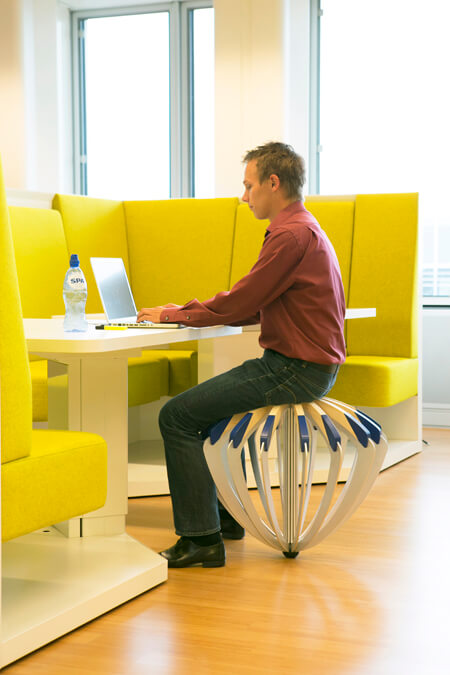 Tumble Weed by Carmela Bogman, Attractive Free-Floating Stool