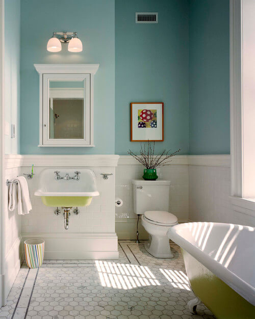 Wall hung colorful sink. Wall Mounted Sinks for Small Bathrooms   Interior Design  Design