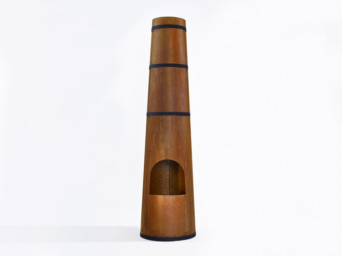 Smokestack by Frederik Roijé 02 Outdoor Fireplace Inspired by the Archetypical Factory Chimney