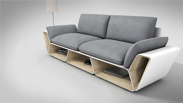 Upholstered-couch .